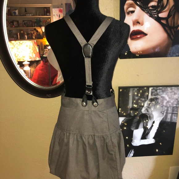 boutiqu Dresses & Skirts - Shimmery Suspender Puff Pleat Skirt Fit